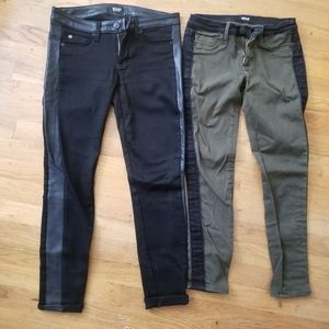 Lot if 2 Hudson Cropped Jeans Size 25 Pre-owned